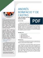 Andrés Bonifacio y de Castro BIO DATA