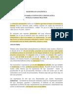 ACTOS DE HABLA SOCIOPRAGMÁTICA
