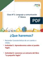 PPT N°1 Lenguaje y comunicación 4tos