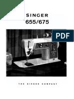 SINGER 655U Sewing Machine User Manual