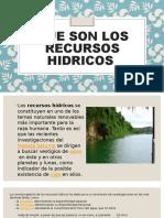 LOS RECURSOS HIDRICOS