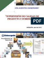 SUPERVISIÓN DE CALIDAD DE PRODUCTO Y SUMINISTRO