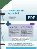 Trastornos de Ansiedad Presentación según DSM 5