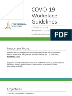 MIOSHA guidelines for employees as people return to work