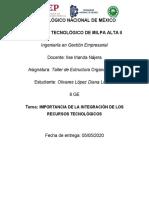 IMPORTANCIA DE LA INTEGRACIÓN DE LOS RECURSOS TECNOLÓGICOS
