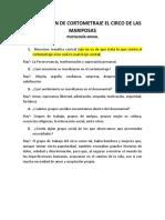 CORTOMETRAJE CIRCO DE LAS MARIPOSAS