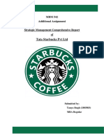 Strategic Management Comprehensive Report on TATA Starbucks