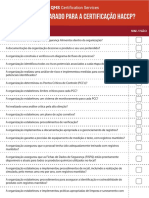 Checklist HACCP