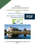 Compte Rendu Congres EPL 2009