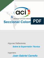 Algunas Reflexiones Sobre el Ejercicio de la Supervisión Técnica - Ing. Juan G. Carreño Silva..pdf