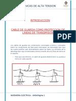 CABLE DE GUARDA COMO PROTECCION