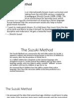 The Suzuki Method ppt