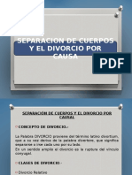 Separacion de Cuerpos y Divorcio por causal