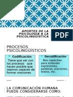 Aportes de La Psicología a La Psicolingüística