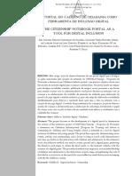 O Portal do Caderno de Cidadania como ferramenta de inclusão digital