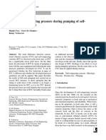 Parameters influencing pressure during pumping of self-compacting concrete
