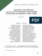 De la guerrilla a las fábricas. Oposición al franquismo del PCE