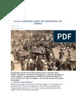 breve catecismo sobre Fátima
