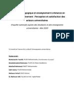 Note synthèse enquêtes sur oa continuité pédagogique dans l'enseignement supérie (1)
