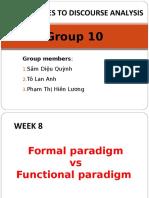 W8. Group 10. Formal vs Functional