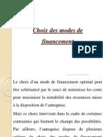 Choix Des Modes de Financement
