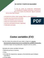 ANÁLISIS DE COSTOS Y PUNTO DE EQUILIBRIO