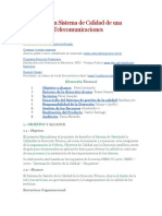 Manual de Un Sistema de Calidad de Una Empresa de Telecomunicaciones