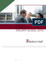 Robert Half - Salary Guide 2010