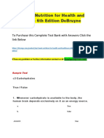 Test Bank Nutrition for Health and Healthcare 6th Edition DeBruyne Pinna