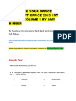 Test Bank Your Office Microsoft Office 2013 1st Edition Volume 1 by Amy Kinser
