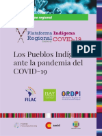 Los Pueblos Indígenas Ante La Pandemia Del COVID-19