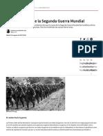 Causas e inicio de la Segunda Guerra Mundial