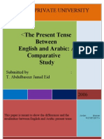 The Present Tense Between English and Arabic a Comparative by Abdulbaseer Jamal Eid