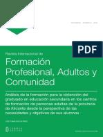 Análisis de la formación para la obtención del graduado en educación secundaria en los centros de formación de personas adultas de la provincia de Alicante desde la perspectiva de las necesidades y objetivos de sus alumnos
