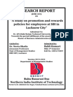 A Study on Promotion and Rewards Policies for Employees at SBI in Lucknow City