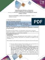 Guia de actividades y Rúbrica de evaluación  Tarea 2 - Análisis de casos (3)