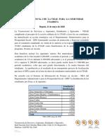 COMUNICADO No. 1 DE  LA VISAE  PARA  LA COMUNIDAD UNADISTA