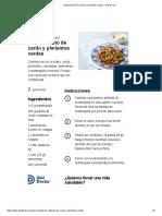 Salteado keto de cerdo y pimientos verdes - Diet Doctor