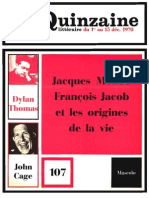 Quinzaine littéraire 107 décembre 1970
