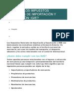 QUÉ SON LOS IMPUESTOS GENERALES DE IMPORTACIÓN Y EXPORTACIÓN.docx