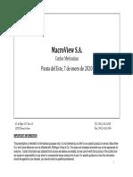Macroview S.A. - Puntal del Este [Read-Only] (P)