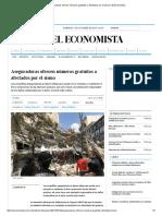 Aseguradoras ofrecen números gratuitos a afectados por el sismo _ El Economista