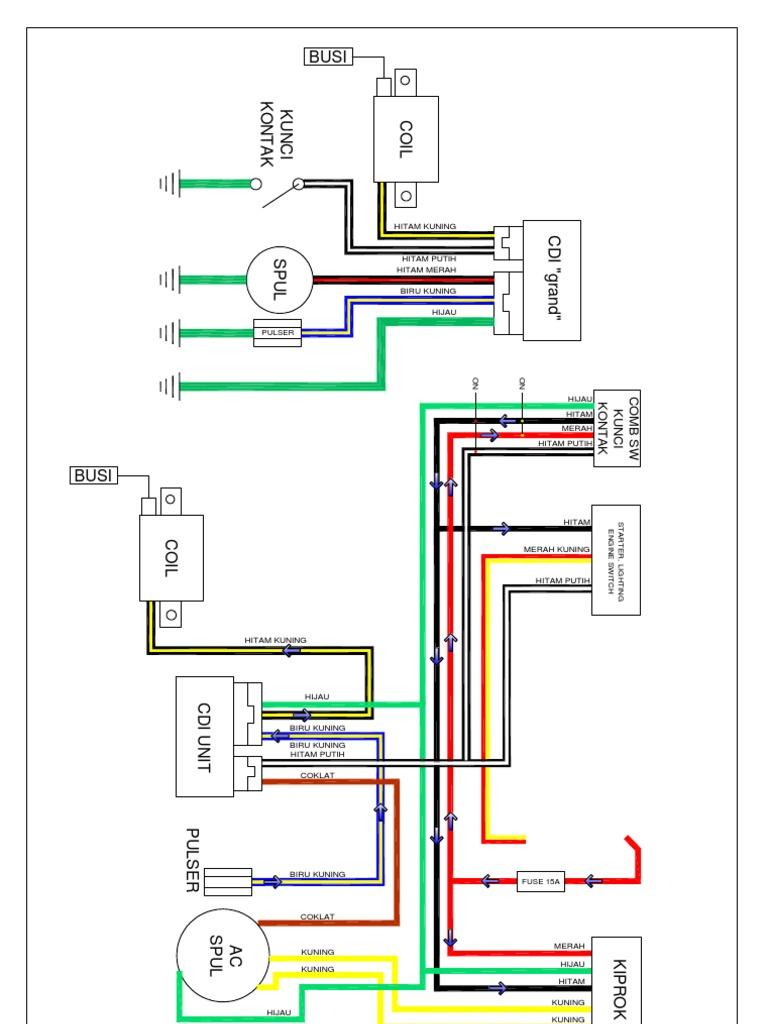 Motor Wiring Diagram Motor Honda Layout1 1