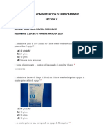 TALLER DE ADMINISTRACION DE MEDICAMENTOS  SECCION V dos