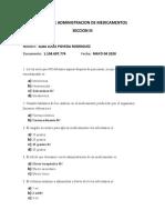 TALLER DE ADMINISTRACION DE MEDICAMENTOS  SECCION III siete