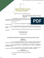 Decreto 2.464 - Regulamenta a Promoção de Praças PMGO