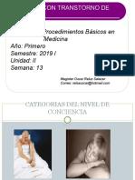 PACIENTE CON TRANSTORNO DEL SENSORIO PBM. 2019 I111