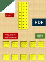 Propuesta de fichas para loteria
