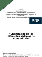 Clasificacion de los diferentes sistemas de alcantarillado