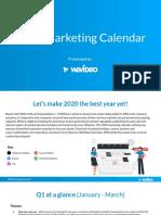 WeVideo 2020 social media Marketing Calendar